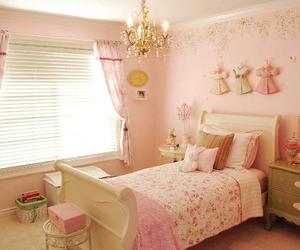 bedroom, pink, and shabby chic image