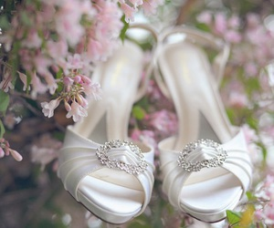 flowers, beautiful, and shoes image