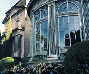 architecture, garden, and house image