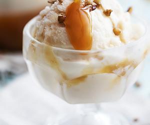 food, ice cream, and caramel image