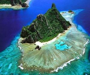 ocean, travel, and fiji image