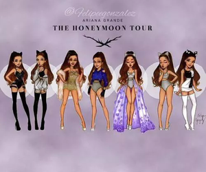 ariana grande, ari, and honeymoon tour image