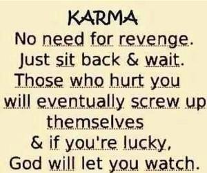 karma, quote, and revenge image