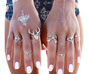 deer, rings, and fashion image