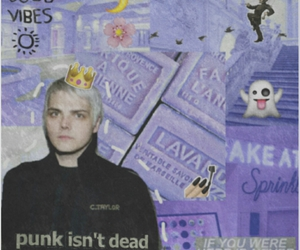 gerard way, grunge, and lilac image