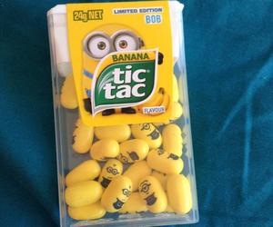 minions, tic tac, and banana image