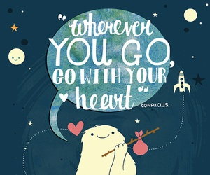coracao, heart, and wherever you go image