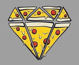 pizza, diamond, and food image