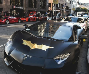 batman, car, and Lamborghini image