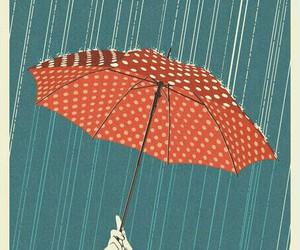 umbrella, rain, and illustration image