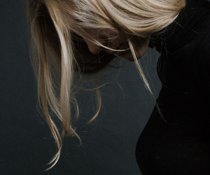 blonde, black, and hair image