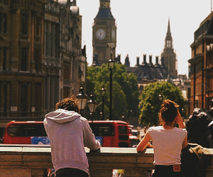 london, couple, and love image