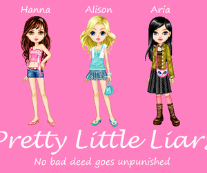 book, cartoon, and pretty little liars image