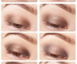brown eyes, makeup, and smokey eyes image