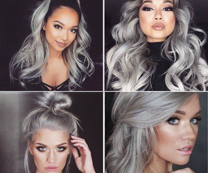 hair, grey, and girl image
