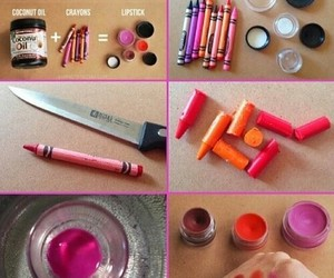 lipstick, diy, and crayon image