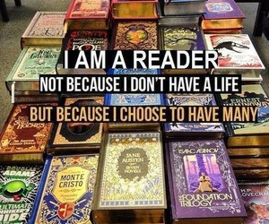book, reader, and life image