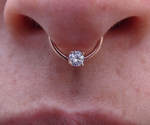 piercing, cute, and diamond image