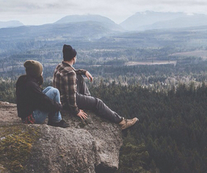 couple, nature, and mountains image