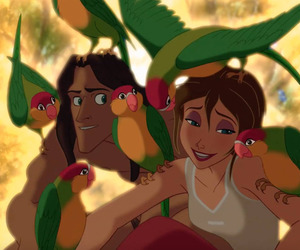 tarzan, jane, and disney image