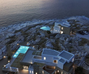 house, luxury, and sea image