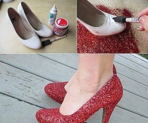 shoes, diy, and red image