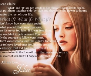 letters to juliet, love, and amanda seyfried image
