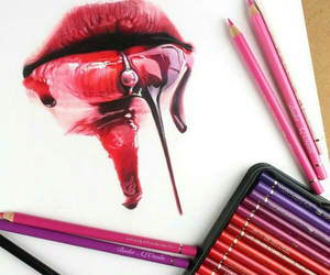 lips, art, and pictures image