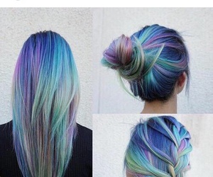 amazing, blue, and dye image