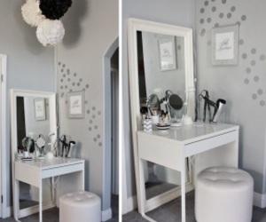 makeup, vanity, and white image