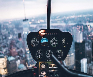 city, Helicopters, and new york image