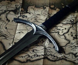 map, sword, and skyrim image