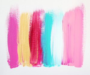 pink, blue, and paint image