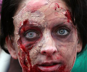 halloween makeup, zombie makeup, and halloween makeup ideas image