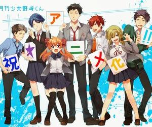 gekkan shoujo nozaki-kun, anime, and nozaki image