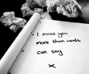 miss, words, and i miss you image