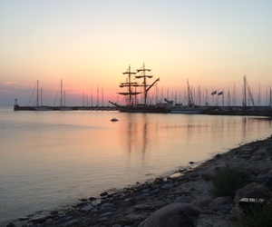 ship, summer, and sunset image