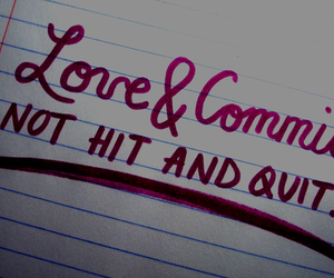 love, quote, and commit image
