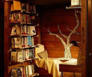 books, bookshelf, and nerd image
