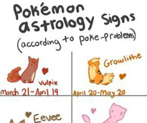 pokemon, horoscope, and astrology image