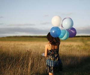 girl, balloons, and photography image