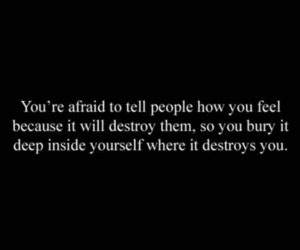 quotes, destroy, and afraid image