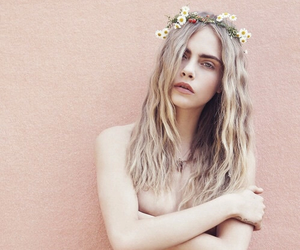 cara delevingne, model, and flowers image