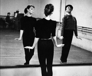 audrey hepburn, dance, and black and white image