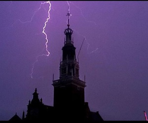 beautiful, church, and purple sky image