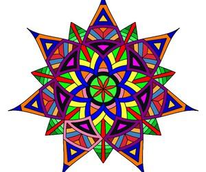 dibujo, estrella, and colores  image