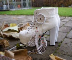 dreamcatcher, shoes, and white image