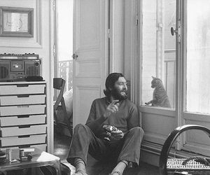 cortazar, cat, and black and white image