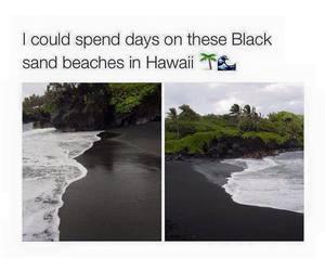 beach, beautiful, and black image