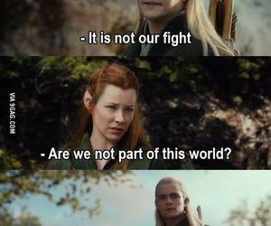 funny, Legolas, and the hobbit image